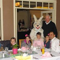 Easter Brunch at AGCC. The Easter Bunny makes an appearance.