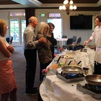 "Executive Chef, Gehrett Billinger, working the ""action station"" during Sunday Fun-Day"